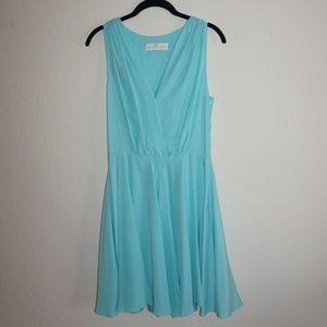 Amanda Uprichard Blue Silk Dress